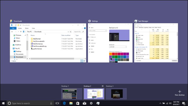 Active Window in Windows 10