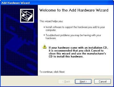 Add Hardware Wizard Windows 7