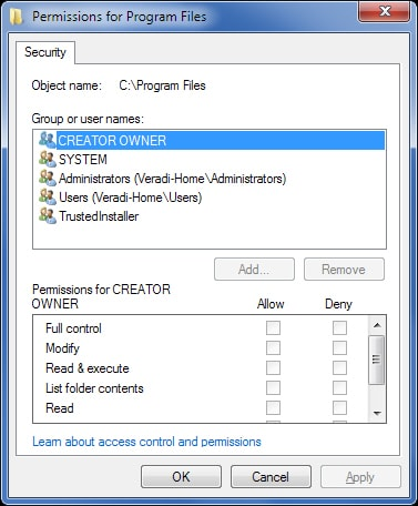 NTFS Permissions on Windows 2000