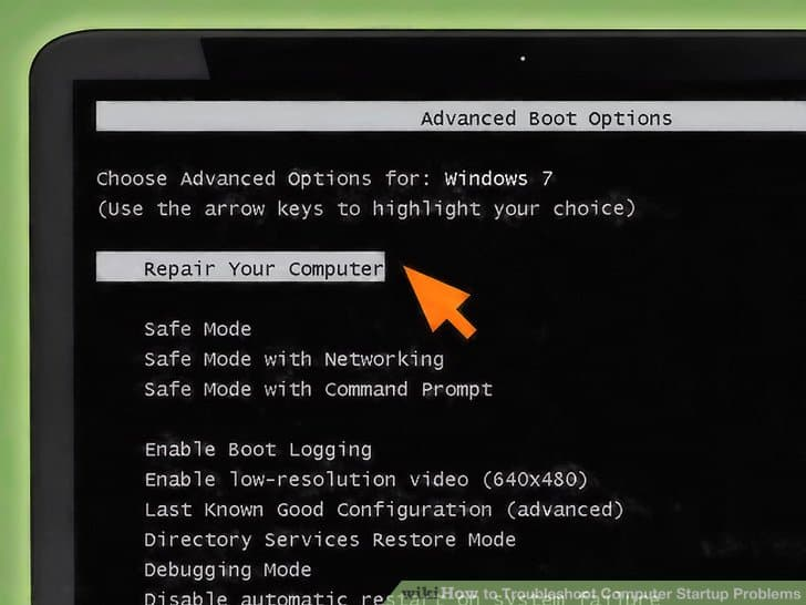Boot advanced option (Windows 7)
