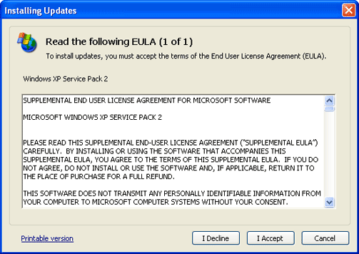 End-User License Agreement (EULA) example