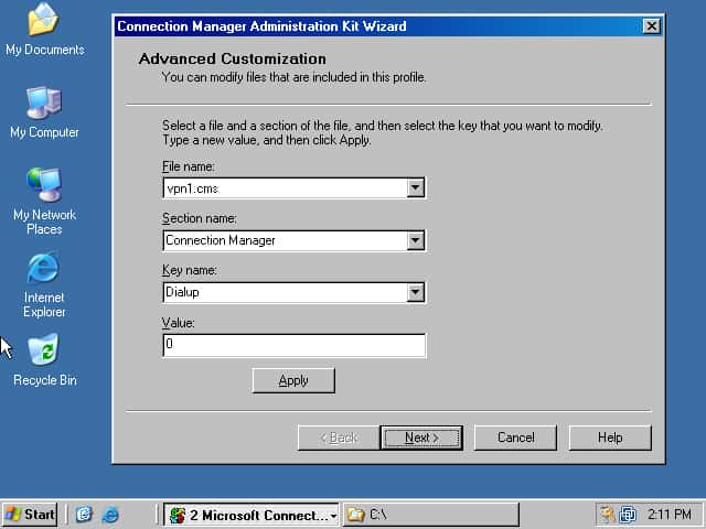 Microsoft Connection Manager