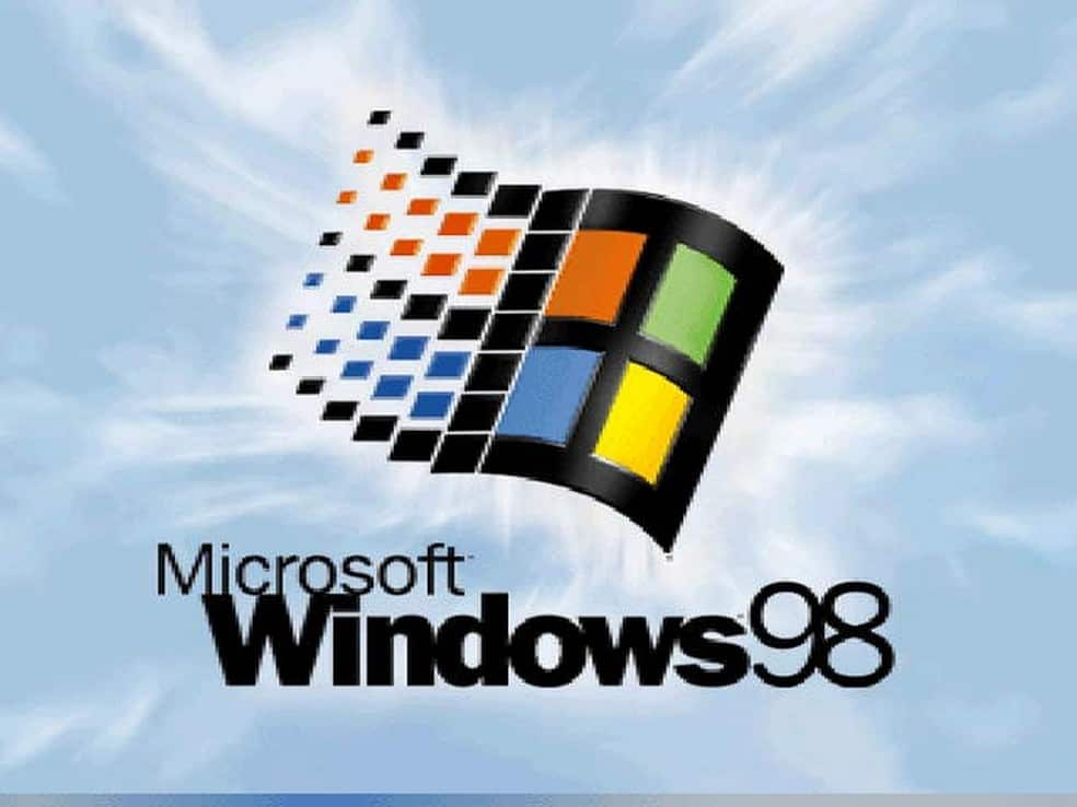 Microsoft Windows 98 starting screen