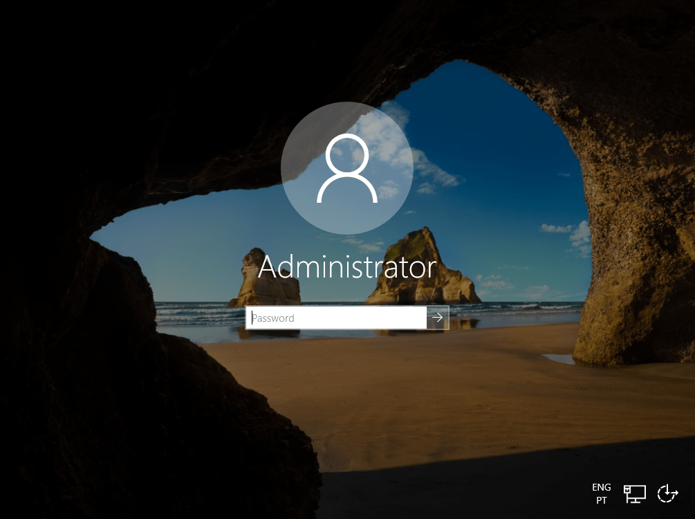 Windows Login Screen